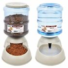 Pet Dog Puppy Cat Automatic Water Dispenser Food Dish Bowl Feeder 3.8L Creative