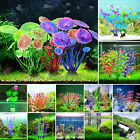 Aquarium Fish Tank Plastic Plants for Decoration MULTIPLE STYLES COLOURS Weeds