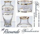 FAVOURS Made in Italy FLOWERPOT H.20 CRYSTAL ENGRAVED and gold ZECCHINO PR4865