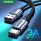 Ugreen USB C Type C Cable 3A Phone Data Fast Charge Cable Fr Samsung S9 Macbook