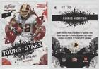 2009 Score Inscriptions Young Stars Red Zone #4 Chris Horton Washington Redskins