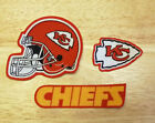 Iron On or Sew On Transfer Applique Kansas City Chiefs Cotton Fabric Patches $3.99 USD on eBay
