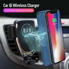 10W Fast Qi Wireless Charger Gravity Car Mount BT Location For Iphone X XR XS