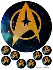 Star Trek Cake and cupcake Toppers, Logo, Birthdays, Star Ship Enterprise, Space on eBay