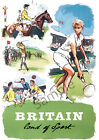 VINTAGE POSTER Britain for Sport Horse Racing Tennis Rugby Golf Club Print A3 A4