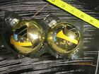 PITTSBURGH PENGUIN  Bulb Ornaments-- 2 1/2 INCH Set of 2 GOLD/BLACK & GOLD DECAL