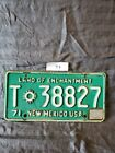 Vintage 1970s New Mexico Tailer License Plate Land of Enchantment