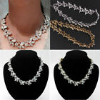 Uk Diamond Crystal Rhinestone Statement Choker Necklace Collar Wedding Jewelry