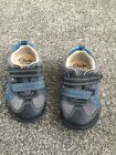 Clarks Blue Boys First Shoes 4.5 E