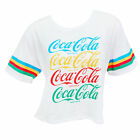 Coca Cola Rainbow Cropped Women's Tee Shirt White $26.98  on eBay