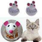 2 Pcs Tumbler Dog Cat Feeder Toy Mouse Shape Treat Dispenser Toy