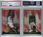 1995-96 NBA Hoops #358 Michael Jordan PSA 8 NM-MT Chicago Bulls Basketball Card