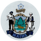 Maine State Seal Vinyl Flag Decal Sticker  Multiple Sizes To Choose From