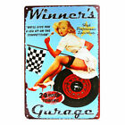 DL-My Garage My Rules Metal Sign Pin Up Stickers Pub Bar Wall Decor Antique Tray