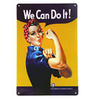 DL-We Can Do It Vintage Metal Sign Pin Up Bar Pub Decorative Home Wall Decor