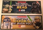 "New LEGO STAR WARS 2-Sided Bookmark 2.5""x7"" Yoda Darth Vader R2D2 Luke Skywalker $10.34 USD on eBay"