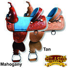 U-N-MX U-HILASON TREELESS WESTERN TRAIL BARREL RACING LEATHER HORSE SADDLE