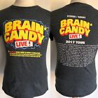 BRAIN CANDY LIVE (2017) Official Kids In The Hall Tour Dates T-Shirt Size Small