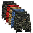 Men's Military Combat Camo Cargo Shorts Pants Work Casual Man Army Trouser Size