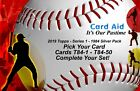 2019 Topps Series 1 - 1984 Silver Pack - Cards T84-1 - 50 - Comp Your Set - Mint