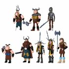 8Pcs How To Train Your Dragon Figure Hiccup Stoick Astrid Toys Collection Gifts