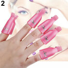 10 PCS Plastic Nail Art Soak Off Cap Clip UV Gel Polish Remover Wrap Tool Multi