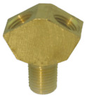 """Brass """"Y"""" Manifold, 1/4 NPT, One Inlet, Two Outlets. Converts One Airline to Two"""