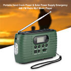 Solar Hand Crank Dynamo AM/FM Radio LED Flashlight Charger +Rechargeable Battery