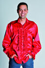 Deluxe Satin  70s Pimp Shirts - Ruffled  - 16 colors in 4 sizes !!