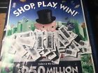 *2019 monopoly 100 game ticket pieces + game board Vons Safeway Albertsons acme*