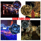500 LEDs 100M Multi-Color Fairy String Light 8 Modes Xmas Party Decor Waterproof