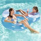 Bestway Double Ring Floating Lounge Lounger For Swimming Pools Outdoor Summer