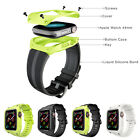 Silicone Sport Band with Waterproof Armor Case for Apple Watch Series 4 44mm