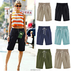 Women Comfy Linen Summer Casual Knee Length Cargo Shorts Holiday Pants Cool