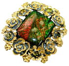 Ammolite Ring size: 7 - Adjustable 925 Sterling Silver + Free Shipping  by Silve