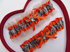 NEW Mossy Oak Camouflage Camo Orange Ivory Wedding Garter Prom Sexy Hunter Chick