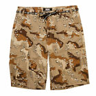 DGK Men's O.G.S Cargo Desert Camo Shorts Brown Clothing Apparel Military