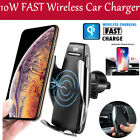 Automatic Clamping Wireless Car Fast Charging Mount For iPhone Samsung Newest #
