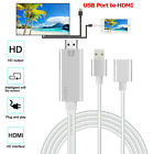 USB To HDMI 1080P HDTV AV TV Office Adapter Cable Cord For iPhone XS /XS MAX/XR