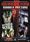 Grindhouse Double Feature:Within the Woods/Mutation (DVD, 2007) NEW! SEE Details
