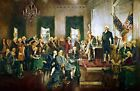 Signing of the Constitution of the United States. Fine Art Repro Canvas or Paper