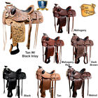 U-N-MX U-16 17 Western Horse Saddle Leather Wade Ranch Roping By Hilason D092