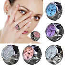 Creative Unisex Finger Ring Quartz Watch Steel Tone Round Dial Elastic Watches image