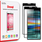 Dooqi Full Coverage Tempered Glass Screen Protector Saver For Sony Xperia 10