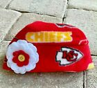 Kansas City Chiefs Fleece Flower Hat Sizes Newborn baby girls, children $9.95 USD on eBay