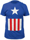 Captain America Costume Suit Men's Fitted Jersey t-shirt