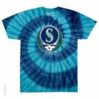 GRATEFUL DEAD-SEATTLE MARINERS-STEAL YOUR BASE-TIE DYE TSHIRT S-M-L-XL-XXLGarcia image