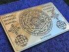 Wallet card The Seals of the Seven Archangels, The Seven Archangels sigil