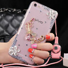 Glitter Jewelled Bling Crystal Diamonds Soft gel Phone back Case Cover & strap P