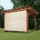 Shatex 6x5ft Garden Shade Fabric Adjustable Vertical Side Wall Panel for Patio